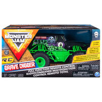 Monster Jam Camion Grave Digger, comandă radio, 1:24