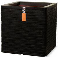 Capi Jardinieră Nature Row, negru, 40 x 40 cm, pătrat, KBLRO903