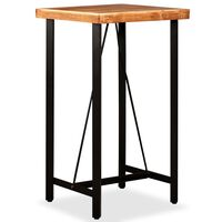 vidaXL Masă de bar, lemn masiv de acacia, 60 x 60 x 107 cm