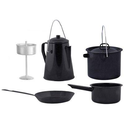 Esschert Design Set de gătit pentru exterior, 4 piese, negru, FF215