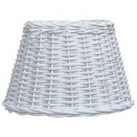 vidaXL Abajur lampă, alb, 38 x 23 cm, răchită