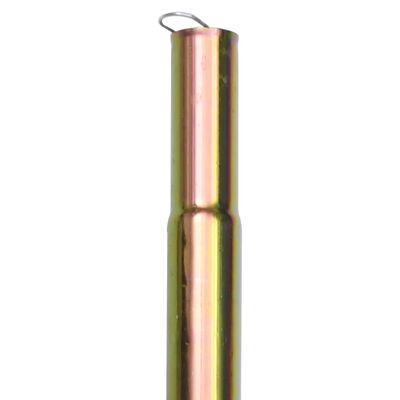 vidaXL Stâlpi pentru parasolar, 2 buc., 200 cm, oțel zincat
