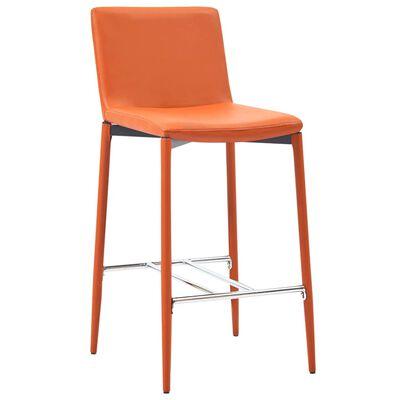 vidaXL Set de bar, 3 piese, portocaliu, piele ecologică
