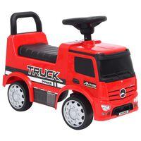 vidaXL Mașinuță pentru pași Mercedes-Benz, roșie