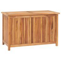 vidaXL Ladă de depozitare grădină, 90x50x58 cm, lemn masiv de tec
