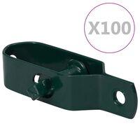 vidaXL Dispozitiv tensionare sârmă gard 100 buc. verde oțel 100 mm