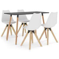 vidaXL Set mobilier de bucătărie, 5 piese, alb