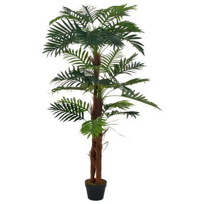 vidaXL Plantă artificială palmier cu ghiveci, verde, 165 cm