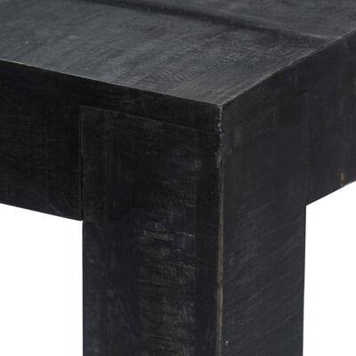 vidaXL Masă de bucătărie, negru, 118x60x76 cm, lemn masiv de mango