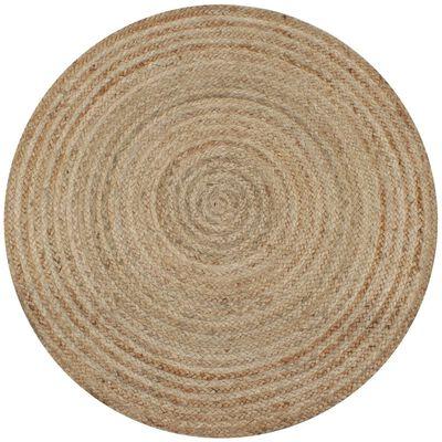 vidaXL Covor din iută împletită, 120 cm, rotund