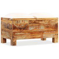 vidaXL Bancă de depozitare, 80x40x40 cm, lemn masiv reciclat
