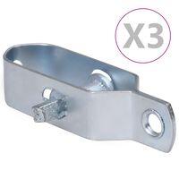 vidaXL Dispozitive tensionare sârmă gard 3 buc. argintiu 100 mm oțel
