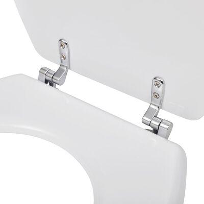 vidaXL Capac WC, alb, MDF, model simplu