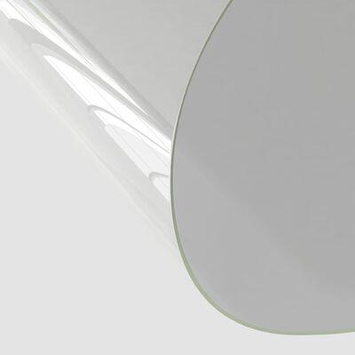vidaXL Folie de protecție masă, transparent,  Ø 100 cm, PVC, 2 mm