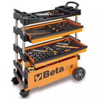 Beta Tools Cărucior pliabil scule C27S-O, oțel, portocaliu, 027000201