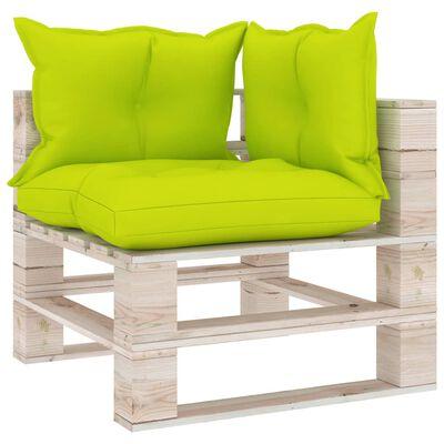 vidaXL Canapea de grădină din paleți, 3 locuri, cu perne, lemn de pin
