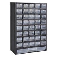 Dulap pentru unelte cu 41 sertare din plastic