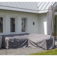 Madison Husă set mobilier de exterior, gri, 235 x 235 x 70 cm