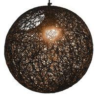 vidaXL Lustră pe cablu, negru, sferă, 35 cm, E27
