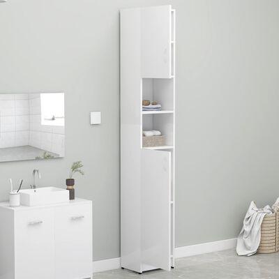 vidaXL Dulap de baie, alb extralucios, 32 x 25,5 x 190 cm, PAL