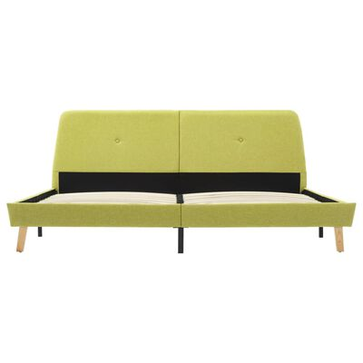 vidaXL Cadru de pat, verde, 160 x 200 cm, material textil