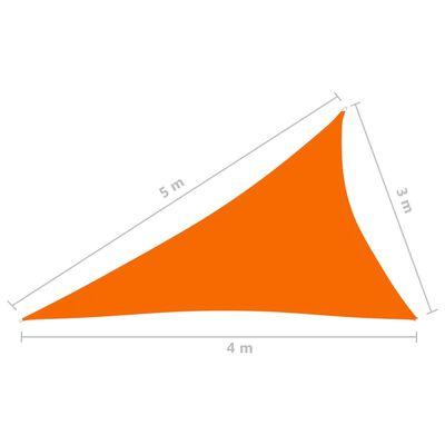 vidaXL Parasolar, portocaliu, 3x4x5 m, țesătură oxford, triunghiular