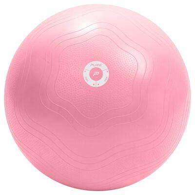 Pure2Improve Minge de fitness, roz, 65 cm