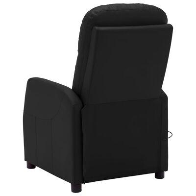 vidaXL Scaun de masaj reglabil, negru, piele ecologică