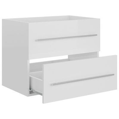vidaXL Dulap de chiuvetă, alb extralucios, 60x38,5x48 cm, PAL
