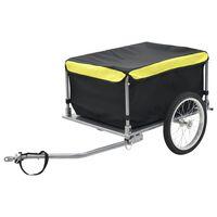 vidaXL Remorcă de bicicletă, negru și galben, 65 kg