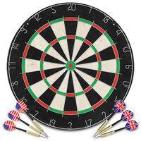 vidaXL Placă de darts profesională cu 6 săgeți, sisal