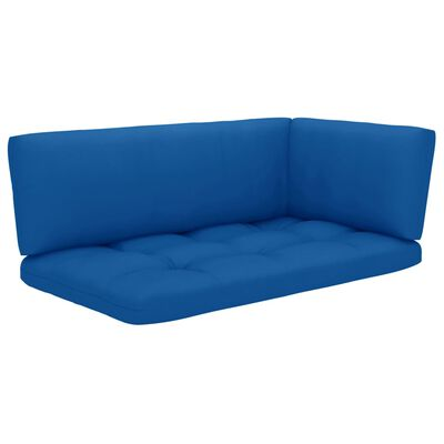 vidaXL Set mobilier paleți cu perne, 4 piese, lemn de pin verde tratat