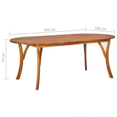 vidaXL Set mobilier de grădină, 7 piese, gri