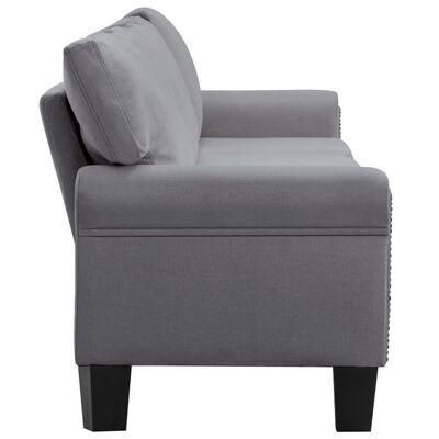 vidaXL Canapea cu 5 locuri, gri deschis, material textil