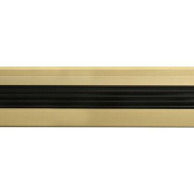 vidaXL Profile trepte în formă de L, 15 buc., auriu, 100 cm, aluminiu