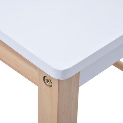 vidaXL Set masă cu scaune pentru copii cu tablă, 3 piese, negru și alb
