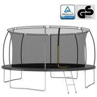 vidaXL Set trambulină rotundă, 460x80 cm, 150 kg