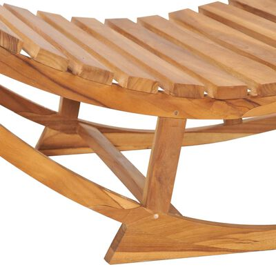 vidaXL Șezlong balansoar cu pernă, lemn masiv de tec