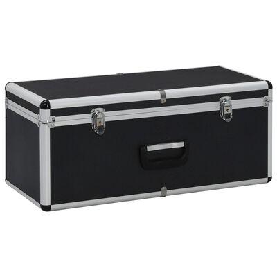 vidaXL Cutii de depozitare, 3 buc., negru, aluminiu