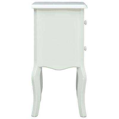 vidaXL Noptieră, alb, 43 x 32 x 65 cm, MDF