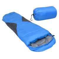 vidaXL Sac de dormit ușor pentru copii tip mumie albastru, 670 g, 10°C
