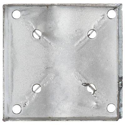 vidaXL Țăruși de sol, 2 buc., argintiu, 14x14x91 cm, oțel galvanizat