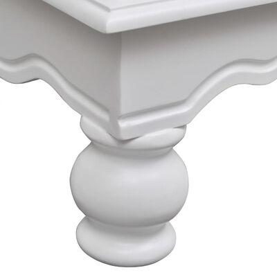 vidaXL Dulap din lemn cu 2 uși și 1 sertar, alb
