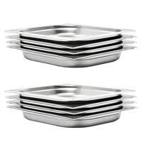 vidaXL Recipiente Gastronorm 8 buc. GN 1/2 40 mm oțel inoxidabil