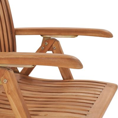 vidaXL Scaune de grădină cu perne crem, 2 buc., lemn masiv de tec