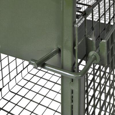 vidaXL Cușcă capcană cu 2 uși