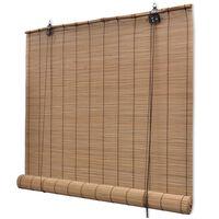 vidaXL Jaluzea tip rulou, bambus, 150 x 160 cm, maro