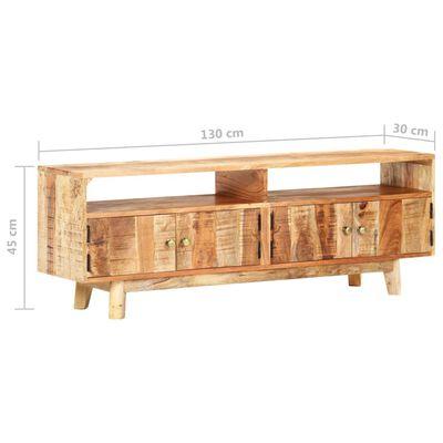 vidaXL Comodă TV, 130 x 30 x 45 cm, lemn masiv de mango