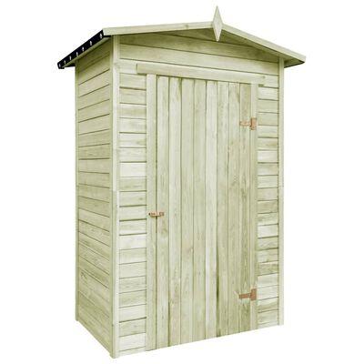 vidaXL Șopron de grădină pentru depozitare, lemn de pin tratat