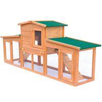 vidaXL Cușcă mare iepuri cușcă adăpost animale mici cu acoperiș lemn
